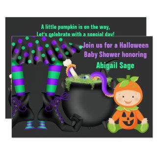 Niedliche Kürbis-Baby-Dusche Halloweens neutrale Karte