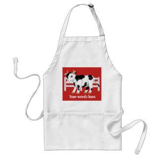 Niedliche Land-Kuh addieren Wortküchen-Schürze Schürze