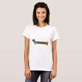 Niedliche lange Dackel-Illustration T-Shirt