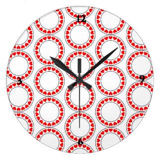 NIEDLICHE LIEBEVOLLE HERZEN Acrylwand-Uhr Große Wanduhr
