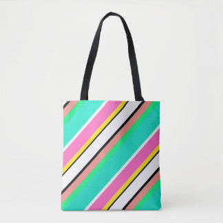 Niedliche Linie Grün-Rosa-Taschen-Tasche