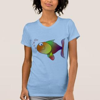 Niedliche lustige Fische - bunt T-Shirt