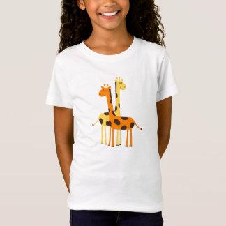 Niedliche lustige Giraffen-Paare T-Shirt