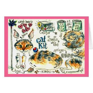 Niedliche lustige Kätzchenkatzengruß- oder Karte