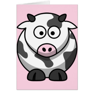 Niedliche lustige Kuh Karte