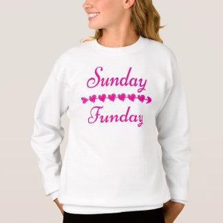 Niedliche lustige rosa Herz-Strickjacke Sonntags Sweatshirt