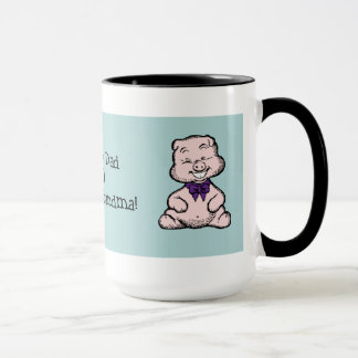 Niedliche lustige rosa retro Schwein-Cartoon Tasse