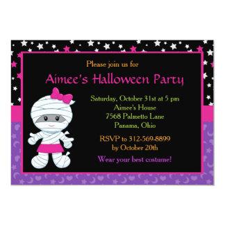 Niedliche Mädchen-Mama-Halloween-Party-Einladung Karte
