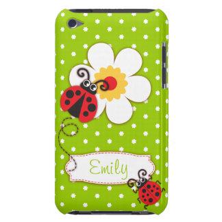 Niedliche Marienkäfermädchen nennen grünen iPod Case-Mate Hüllen