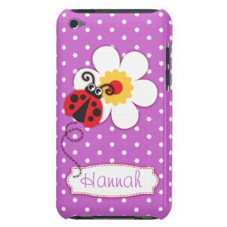 Niedliche Marienkäfermädchen nennen lila Case-Mate iPod Touch Hülle