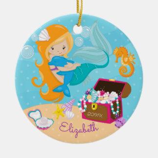 Niedliche Meerjungfrau-u. Keramik Ornament