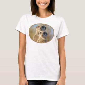 Niedliche Meerkat Paare T-Shirt