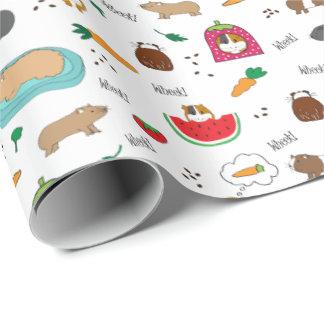 Niedliche Meerschweinchencavy-Haustiere Einpackpapier