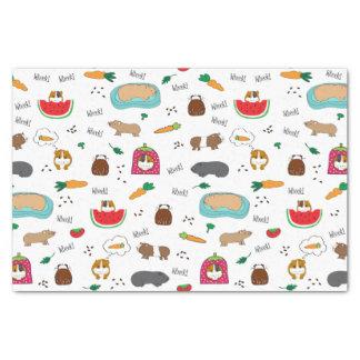 Niedliche Meerschweinchencavy-Haustiere Seidenpapier