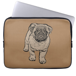 Niedliche Mops-Laptop-Hülse 13 Zoll - Brown Laptop Sleeve