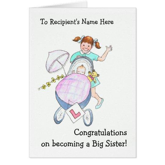 Niedliche neue Baby-Glückwunsch-Karte für Grußkarte