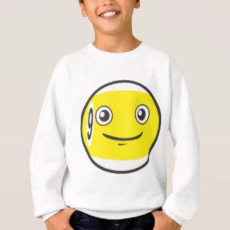 Niedliche neun 9 Ball-Billard-Cartoon Sweatshirt
