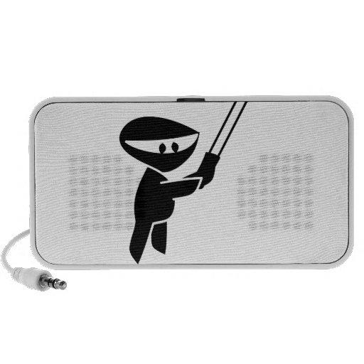 niedliche ninja Grafik Laptop Speaker