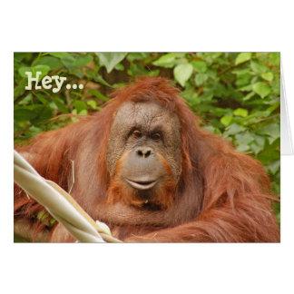 Niedliche Orang-Utan Geburtstags-Grußkarte Karte