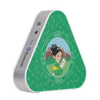 Niedliche orientalische Mädchenmalereinatur Bluetooth Lautsprecher