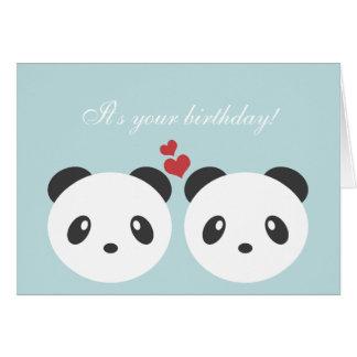 Niedliche Pandageburtstagskarte Karte