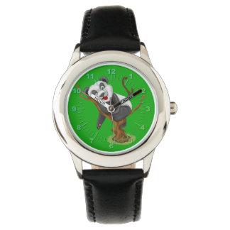 Niedliche Pandaillustration Uhr