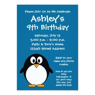 Niedliche Penguin-Geburtstags-Party Einladung