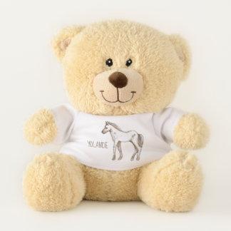 Niedliche Ponypferdeillustration für kleine Kinder Teddybär