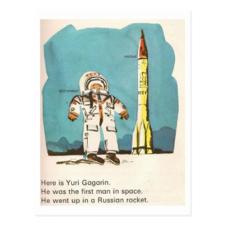 Niedliche Postkarte Yuris Gagarin