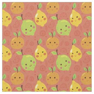 Niedliche reizende Cartoon-Orange, Zitrone und Stoff