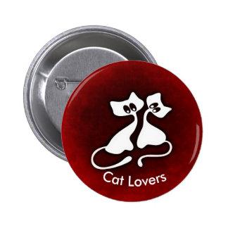 Niedliche romantische Katze verbindet Knopf Runder Button 5,7 Cm