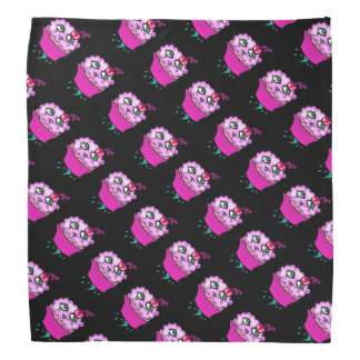 Niedliche rosa bewölkte Kuchen-Bandanna Kopftuch
