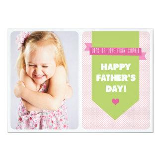 Niedliche rosa der Vatertags-flache Karte der 12,7 X 17,8 Cm Einladungskarte