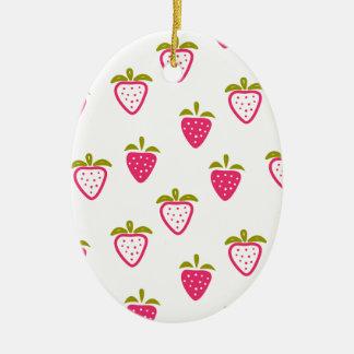 Niedliche rosa Erdbeere Keramik Ornament