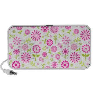 Niedliche rosa Frühlings-Blumen Notebook Speaker