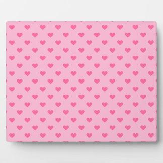 Niedliche rosa Herz-Muster-Liebe Fotoplatte