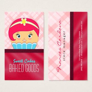 Niedliche rosa hochrote und blaue visitenkarte