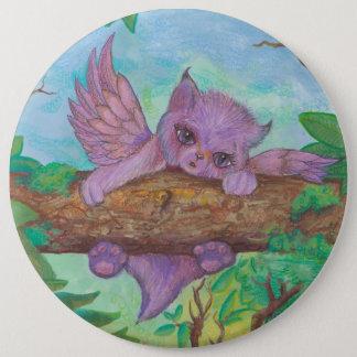 Niedliche rosa Kätzchen-Katze winged Runder Button 15,3 Cm