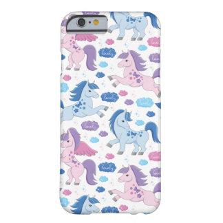 Niedliche rosa und blaue Unicorns kopieren Iphone Barely There iPhone 6 Hülle