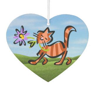 Niedliche rote Tabby-Cartoon-Katze Lufterfrischer