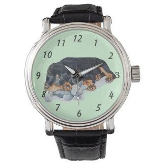 niedliche rottweiler armbanduhr
