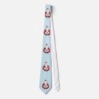 Niedliche Sankt, die Weihnachten zeichnet Individuelle Krawatte