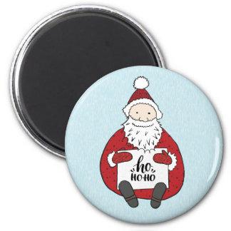 Niedliche Sankt, die Weihnachten zeichnet Runder Magnet 5,1 Cm