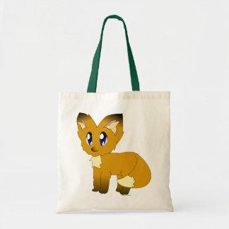 Niedliche schäbige kleine Fox-Taschen-Tasche Budget Stoffbeutel