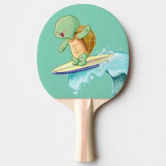 Niedliche Schildkröte, die Kawaii Ping Pong Paddel Tischtennis Schläger