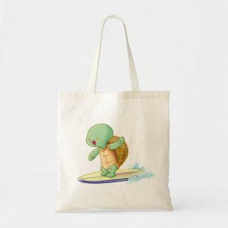 Niedliche Schildkröte, die Kawaii Taschen-Tasche Budget Stoffbeutel