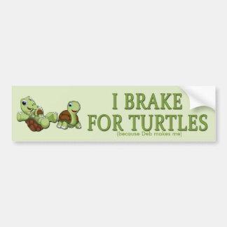 Niedliche Schildkröten - i-Bremse für Schildkröten Autoaufkleber