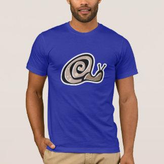 Niedliche Schnecke; Blau T-Shirt