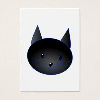 Niedliche schwarze Katze. Visitenkarte
