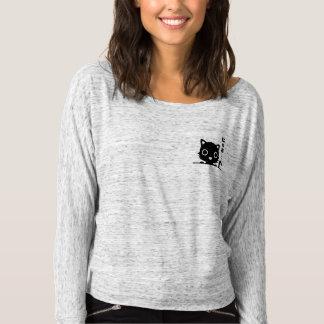 Niedliche schwarze Taschen-Katze T-shirt
